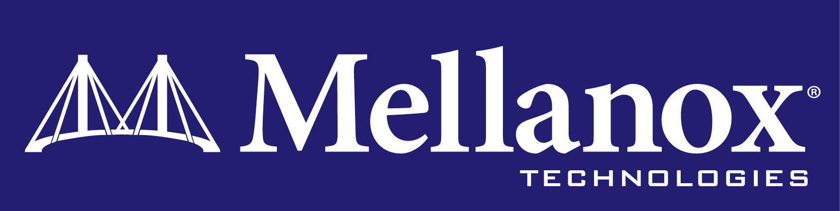 mellanox logo square blue background horizontal